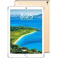 Tablet 10 Pollici, 4G LTE/WIFI Android 7.0 Tablet PC con 3GB RAM & 32GB ROM, Quad Core Tablet e Batteria da 8000 mAh, Dual SIM Call e Camera, Bluetooth/ GPS/OTG - Oro