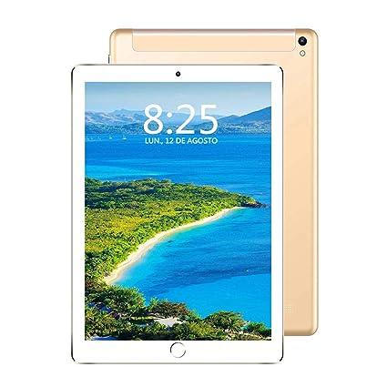Tableta 10 Pulgadas, 4G/Wi-Fi Tablet PC Android 7.0 Full HD, Procesador de Cuatro núcleos, 3GB de RAM y 32GB de Memoria, Batería de 8000 mAh, Dual SIM ...