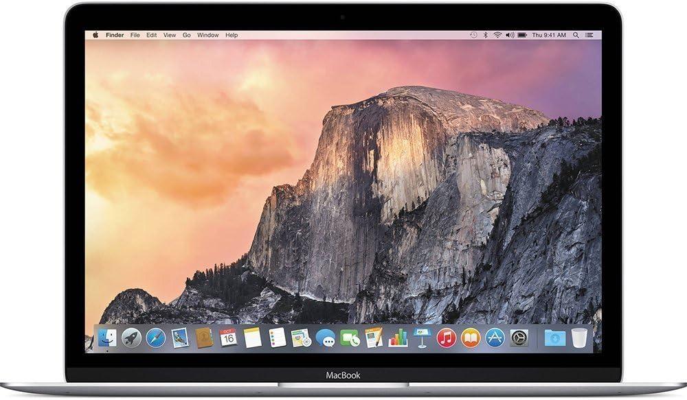 Apple MMGL2LL/A 12-inch Retina Display MacBook (Intel Core M 1.1 GHz, 8 GB DDR3, 256GB, Mac OX X 10.10), Silver (Renewed)