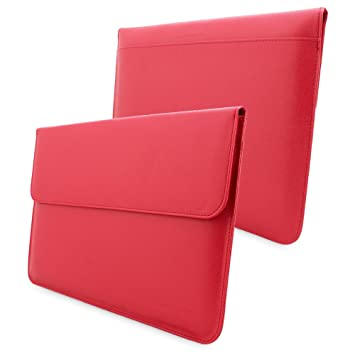 "Snugg - Funda Blanda para Ordenador portátil Apple MacBook 12"", Color Rojo"