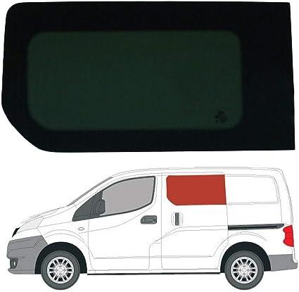 Mano izquierda, tintado oscuro fijo ventana para puerta corredera Nissan NV200: Amazon.es: Coche y moto
