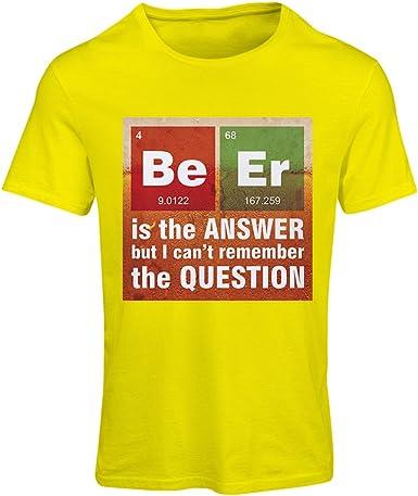 lepni.me Camiseta Mujer La Cerveza es la Respuesta! Científico Inteligente, Amante de la química.: Amazon.es: Ropa y accesorios