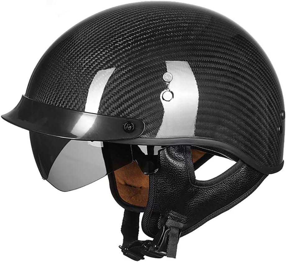 GJX-Casco de seguridad Casco Abierto Protección para Motocicleta Vintage Casco Moto Jet con Visera Mujer y Hombre para Ciclomotor Scooter Bicicleta Mofa Piloto Crash Cruiser Chopper Racing Cap: Amazon.es: Bricolaje y herramientas