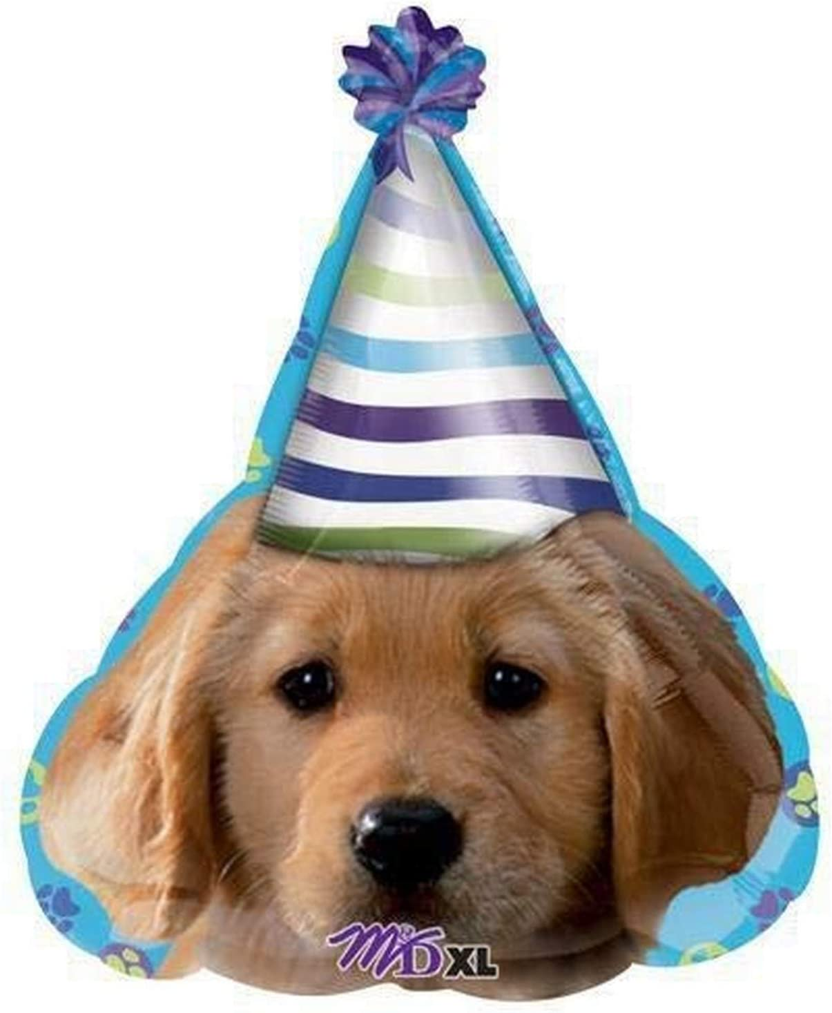 Anagram 15901 Party Pups Birthday Junior Shape Foil Balloon Multicolored 24