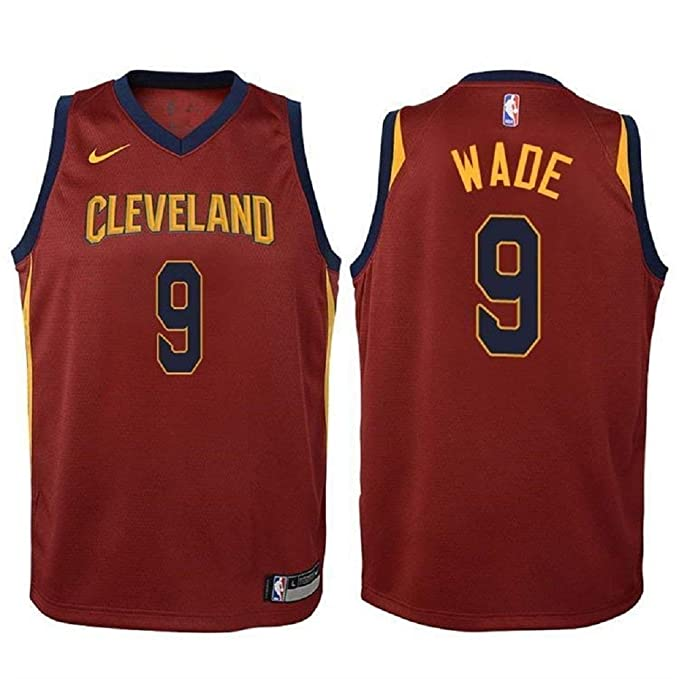Nike Dwyane Wade Cleveland Cavaliers NBA Youth Burgundy Road Swingman Icon  Jersey (Youth Small 8 2654ca423