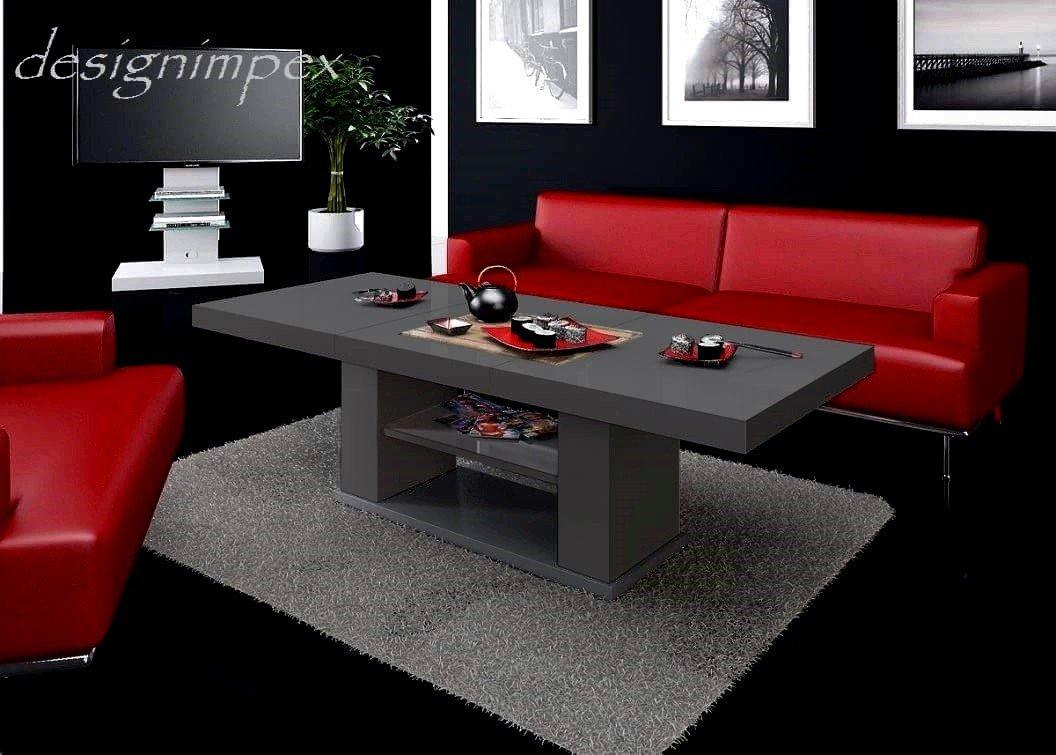 design couchtisch hn 777 grau hochglanz h henverstellbar ausziehbar tisch jetzt kaufen. Black Bedroom Furniture Sets. Home Design Ideas
