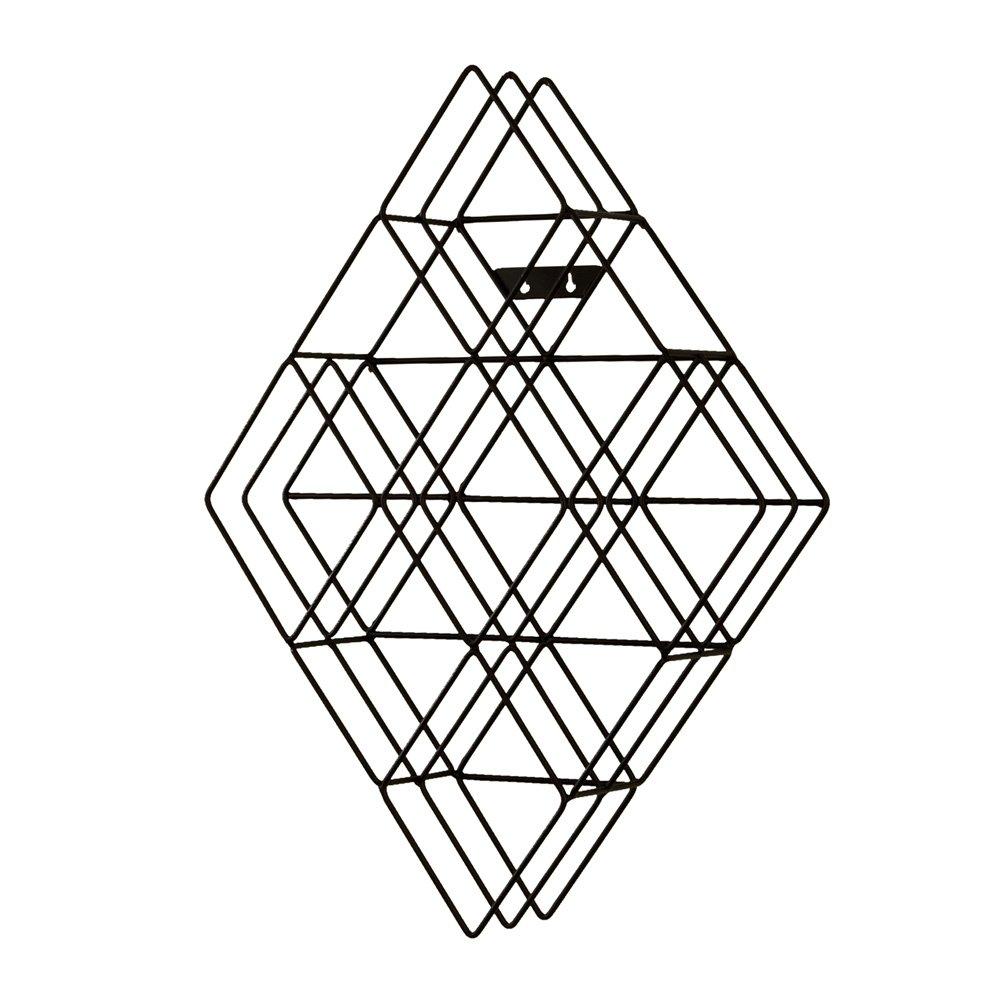 Southern Enterprises Black Steel Wall Mount CD Rack - Holds 108 CDs - Geometric Metal Frame by Southern Enterprises