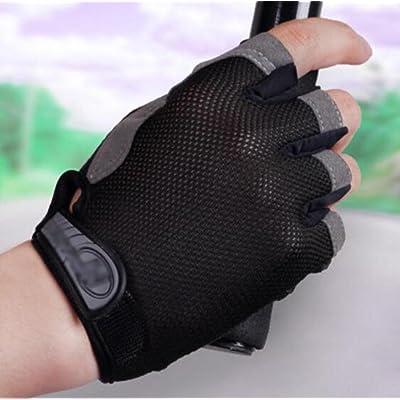OOFWY JAYLONG Gants à moitié doigts Gants demi-doigts - À l'extérieur Non glissé Protecteur solaire respirant Mendiant exposé Mouvement Grimper à la mode Gants déchirant