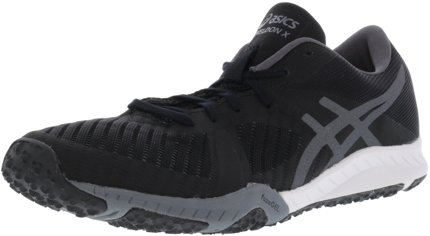 ASICS Womens Weldon x Fabric Low Top Lace up Running Sneaker B01N07F5MM 11 B(M) US|Black/Carbon/White