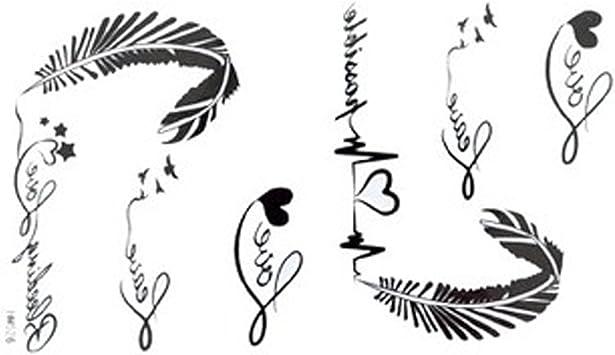 2012 Nouveau Design Les Nouveaux Autocollants De Tatouage Impermeable A L Eau De Liberation Des Femmes De Lettres En Noir Et Blanc De Tatouages Alphabet Des Plumes Ecg Faux Amazon Fr Beaute Et Parfum