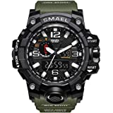 eYotto Men's Sports Watch, Military Digital Wrist Watch Outdoor Waterproof Tactical Army Mens Watches Dual Display Date Alarm Stopwatch