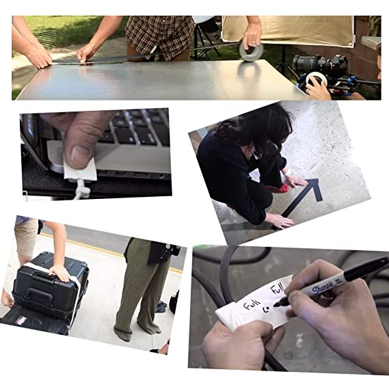 GreyParrot Matt Gaffer Tape White Multi Application Non-Reflective Strong Holding 2in x 30yds 4 Pack
