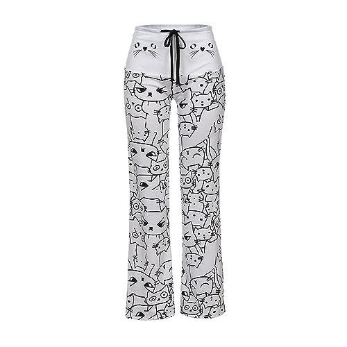 2b11984779 UOMOGO® Pantaloni Larghi Donna Vita Alta Baggy Hip Hop Harem Danza Trousers  Stampa Floreale Tuta Jumpsuit Boho Hippie Chic Pantalone Lungo