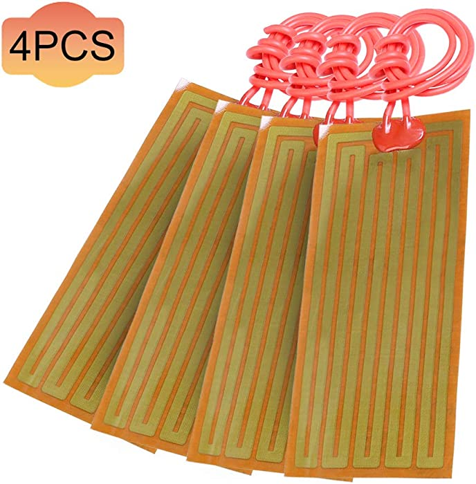 4pcs Polyimide Heating Film Insulated 24V 30W PI Heater Plate Adhesive For Heating Components