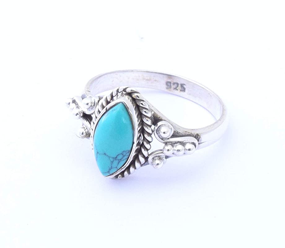 Gifts For Her Grape Vine Ring with Turquoise Statement Ring With Sterling Silver Band Friendship Rings Gifts From Napa Valley
