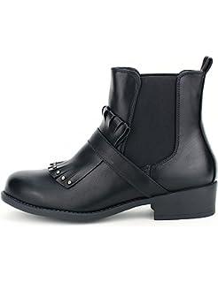 Femme CendriyonBottine Derbies Chaussures Perles Noire dtshQr