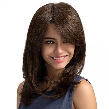 PerGrate - Peluca de pelo largo para mujer, sexy, peluca sintética ...