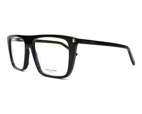55c0fbb0b17 Image Unavailable. Image not available for. Color  Saint Laurent SL 155 -  001 BLACK Eyeglasses
