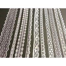 CraftbuddyUS 20m of Asstd Cream Vintage Lace Bridal Wedding Trim Ribbon, Craft, Card Making