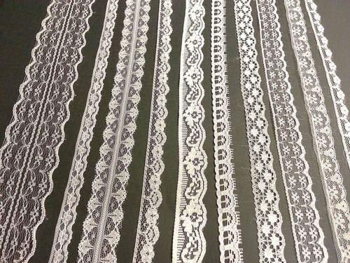 CraftbuddyUS 20m of Asstd Cream Vintage Lace Bridal Wedding Trim Ribbon, Craft, Card Making ()