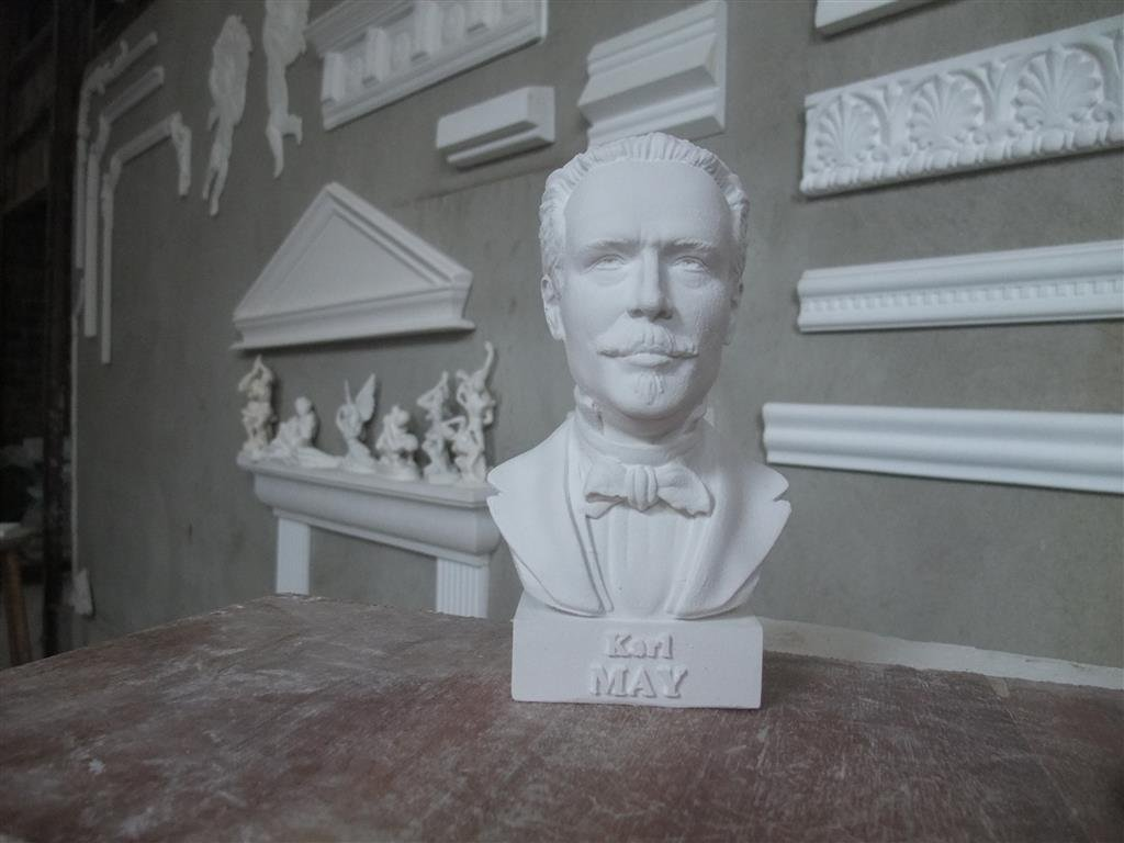 GIPS BÜSTE KARL MAY DEUTSCHER SCHRIFTSTELLER 1842-1912