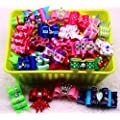 Yagopet Dog Hair Bowstopknot Hot Mix Styles Pairs Rhinestone Crown Bows Dog Topknot Bows Pet Dog Grooming Bows Pet Supplies Hair Accessories 20pcs