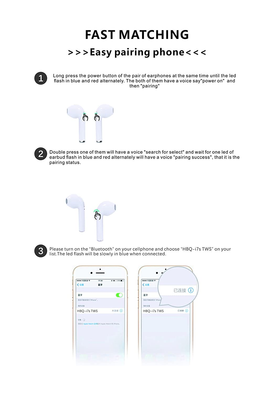 Tws I7 Dual Wireless Bluetooth Headphones V42 In Ear Vehicle Wiring Diagrams V4 2 Stereo Earbud Headset With Charging Box For Ios Android Tablets Laptop White