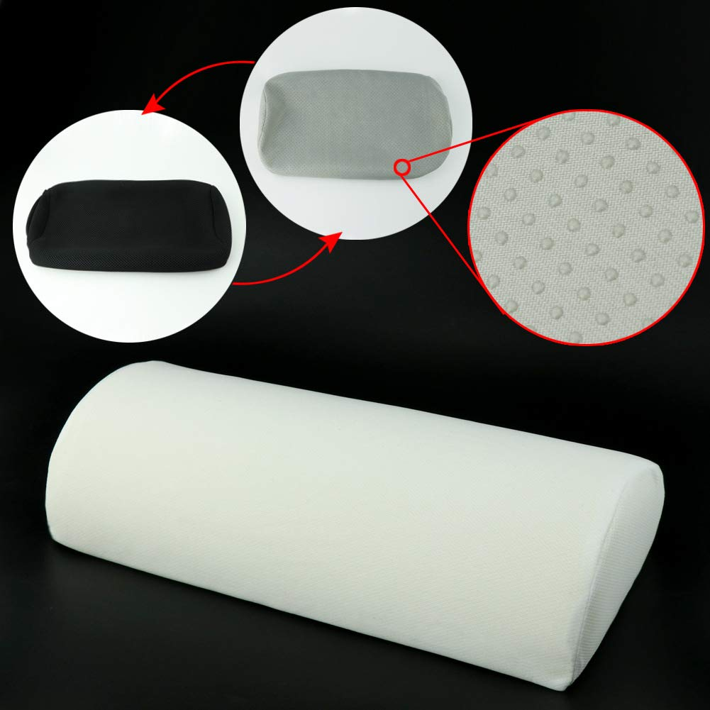 Perfect for Office or Home Massage Effect Non-Slip Silicone Dots Includes Two Removable Covers SEG Direct Memory Foam Foot Cushion