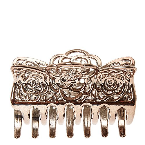 Icing Women's Silver Filigree Rose Hair Claw