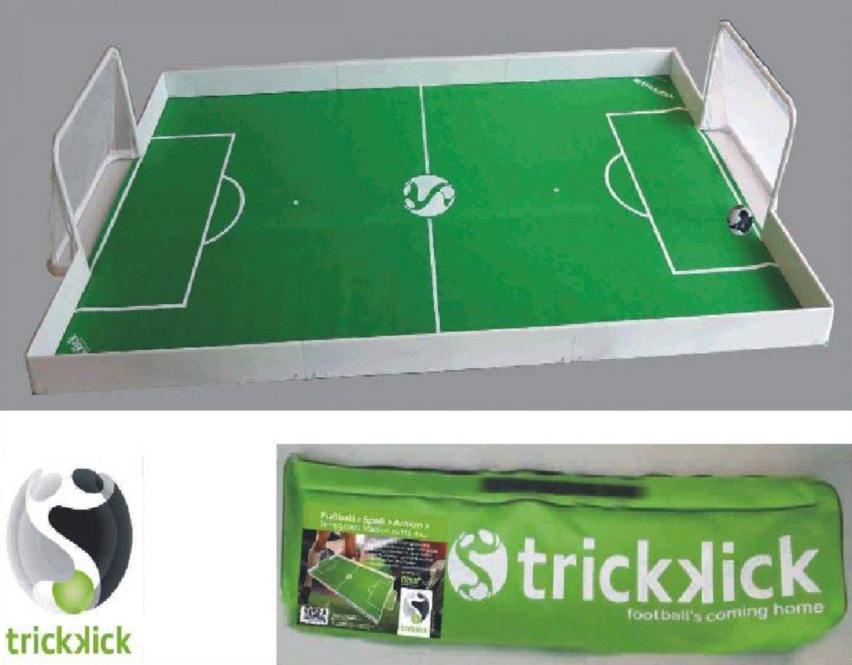 Dreams4Home Kickertisch - Tischfußball, Fußballtisch, Fußballarena, Fußball, Freizeit, Garten, Kinderzimmer, Größe: 285 x 140 cm, inkl. PU-Ball ø 7 cm, in grün / weiß