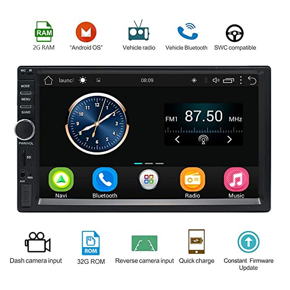 Lexxson 2G DDR3 + 32G Android Car Radio Stereo 7 inch Capacitive Touch  Screen High Definition 1024x600 GPS Navigation Wireless USB SD Player 2G  DDR3 +