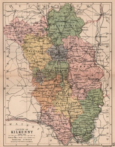 Map Of Ireland Showing Kilkenny.Amazon Com County Kilkenny Antique County Map Leinster Ireland