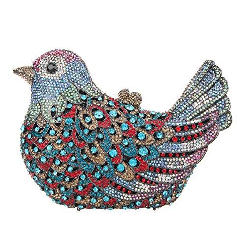 Fawziya Bird Hard Case Clutch Purse Luxury Crystal Evening Clutch Bags-Color ()