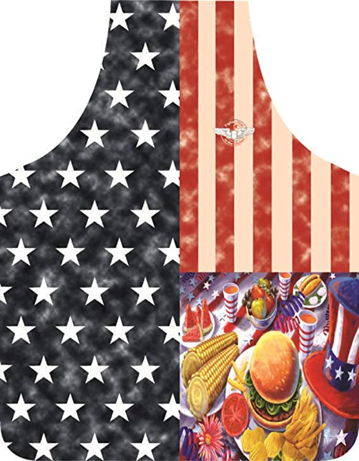 Amazon.com: USA Labor Day Picnic 4th of July Flag Apron Fighter ...