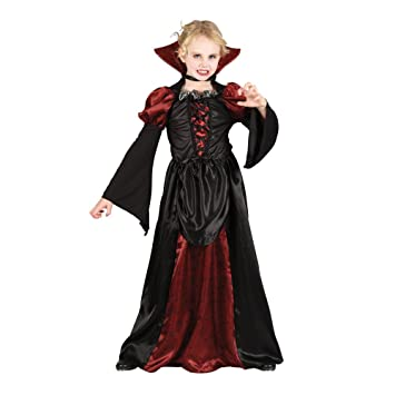 (S) Girls Scary Vampiress Halloween Costume for Fancy Dress Childrens Kids  Childs