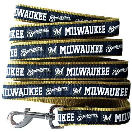 MLB MILWAUKEE BREWERS Dog Leash, Large Milwaukee Brewers Stars