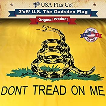 amazon com gadsden flag don t tread on me by usa flag co is 100