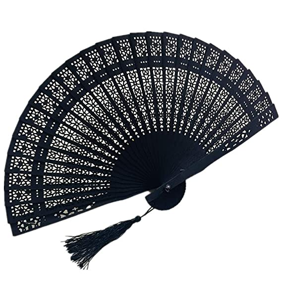 6pcs Handheld Hand Plastic Fabric Folding Fan Outdoor Dancing Solid White Lots