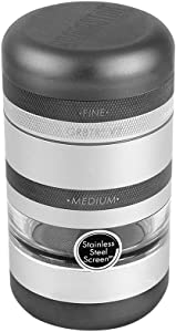 KANNASTOR GR8TR V2 Grinder - Premium Food Grade Quality Aluminum w/Screen Chamber - 8 Pieces - 60 Mesh Stainless Easy Change Screen - Perfect for Herb Spices - Smooth Grind - Storage Lid