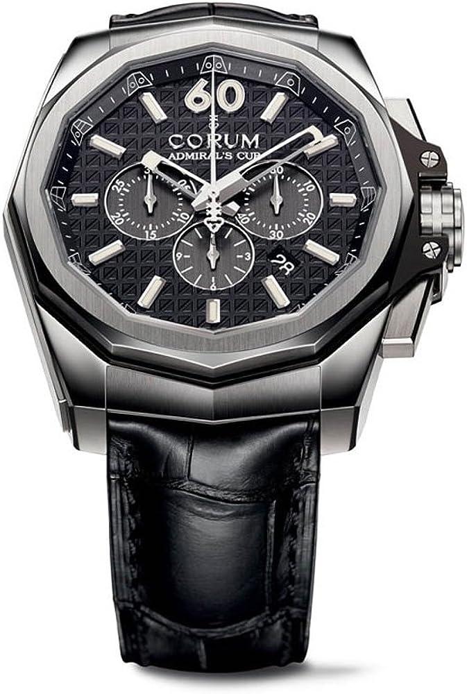 Corum Admiral's Cup Automatic Chronograph Titanium Mens Strap Watch 132.201.04/0F01 AN10