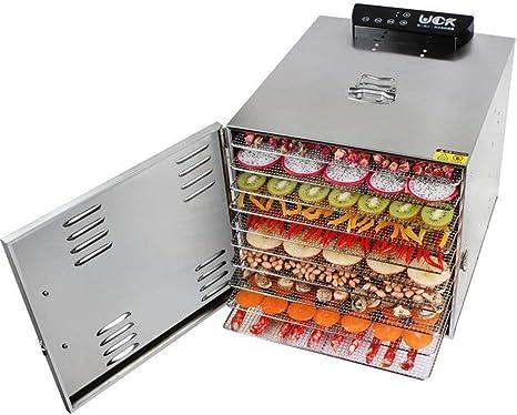 Opinión sobre L.TSA Deshidratador de Alimentos Deshidratador de Alimentos de Acero Inoxidable Grande Paleta de 10 Capas de Grado Comercial Deshidratador de Frutas Capacidad Control de microordenador Contr
