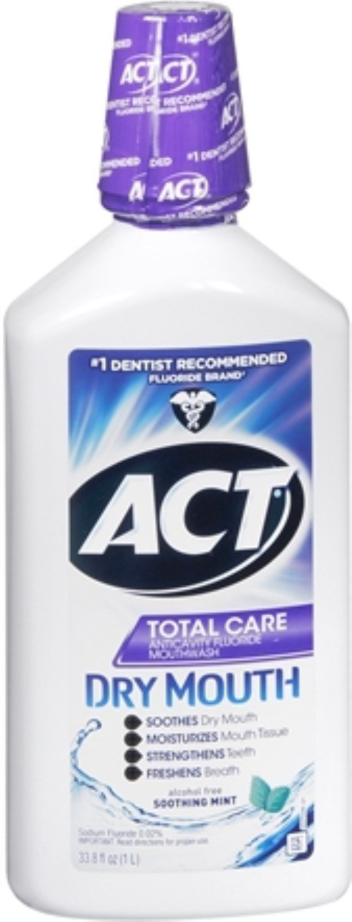 Act Total Care Anticavity Fluoride Rinse for Dry Mouth Soothing Mint, 33.8 OZ (PACK OF 3) by ACT BUALMARKET usa-iiu-tm605
