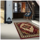 Superior Aztec Collection 4' x 6' Area Rug, Attractive Rug with Jute Backing, Durable and Beautiful Woven Structure, Bright and Bold Southwest Style Bordered Rug