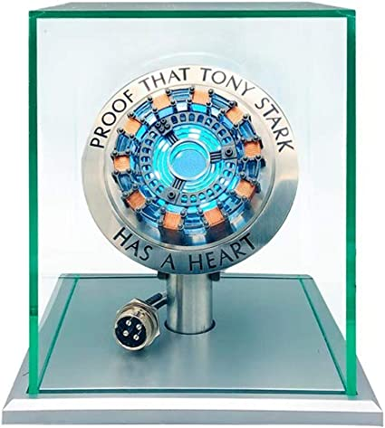 DIY Iron Man Tony Stark MK2 Arc Reactor Display Box USB Powered//Remote Control