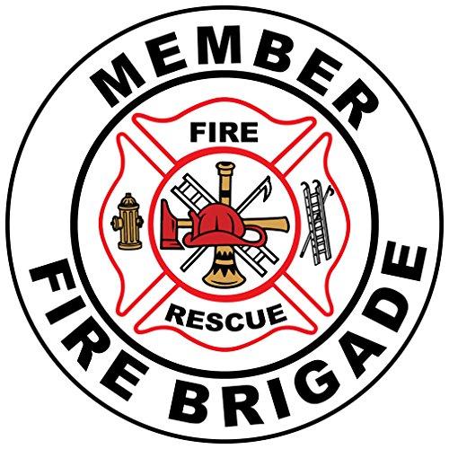 Member Fire Brigade Hard Hat Labels Plain & Reflective Vinyl Reflective (Fire Brigade Peel)