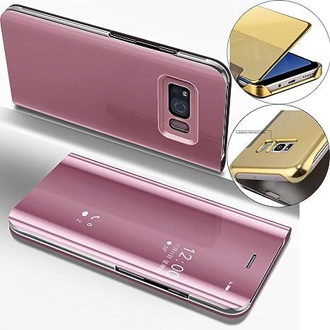 EMAXELERS Galaxy S8 Plus Funda, Funda Samsung Galaxy S8 Plus Espejo Caja de Maquillaje con