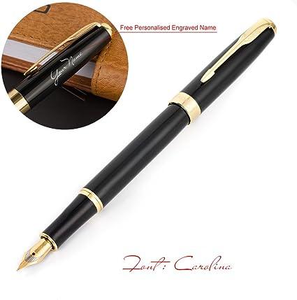Nkysm Baoer 388/penna stilografica con pennino medio in metallo nero scuola forniture Gift