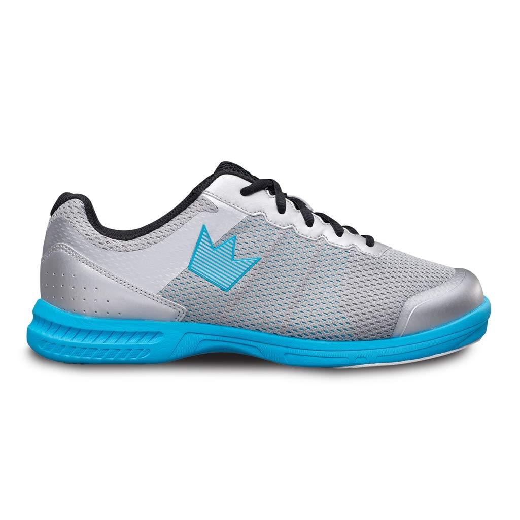 Brunswick Fuze Bowling-Schuhe für Herren, für Rechts- und Linkshänder (40, Silber Sky Blau)