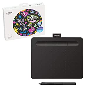 "Wacom Intuos Graphics Drawing Tablet with 3 Bonus Software Included, 7.9""x 6.3"", Black (CTL4100)"