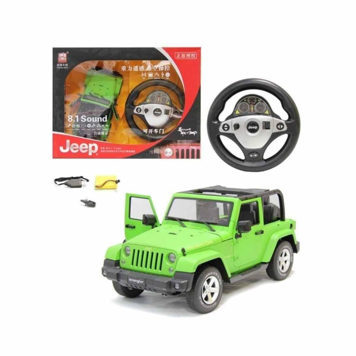 Jeep Wrangler R/C 1:12 con volante y batería